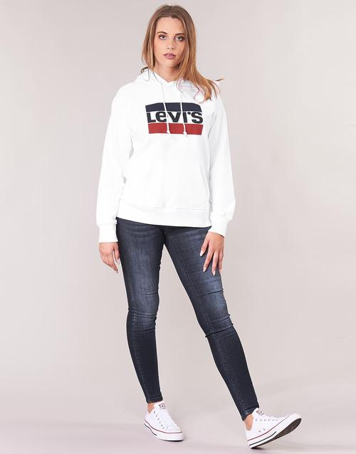 Levi's Graphic Sport Hoodie Blanc - Livraison Gratuite- Vêtements Sweats Femme 5519