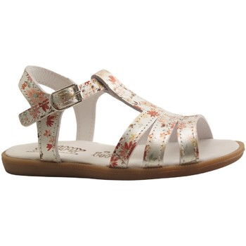Chaussures Fille Sandales et Nu-pieds Bellamy PATCH SILVER