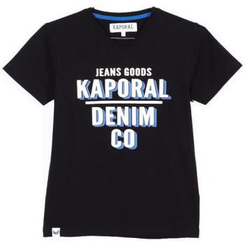 Vêtements Garçon T-shirts manches courtes Kaporal T-shirt Garçon ARROW Noir