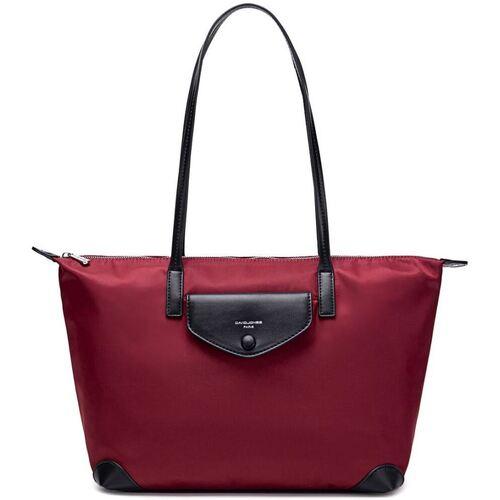 Sacs Femme Sacs porté main David Jones Sac à Main Cabas Shopping Nylon rouge