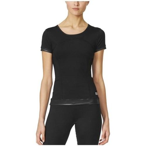 Vêtements Femme T-shirts manches courtes adidas Originals Stella Mccartney The Pref Tee Noir