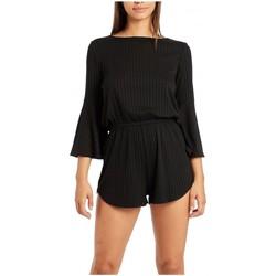 Vêtements Fille Combinaisons / Salopettes Billabong Combishort en coton uni Da La Sol Noir