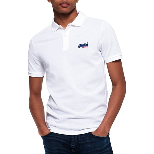 Vêtements Homme Polos manches courtes Superdry MERCERISED LITE CITY POLO Blanc