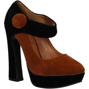 Chaussures Femme Escarpins Urban 8538-6A BROWN-BLACK Marrón