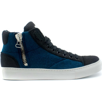 Chaussures Baskets montantes Nae Vegan Shoes Milan Pet Blue Bleu
