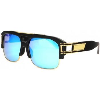 Montres & Bijoux Lunettes de soleil Soleyl Grandes Lunettes soleil Miroir Bleu Fashion Krak Bleu