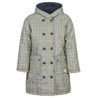 Vêtements Femme Doudounes Maison Scotch REVERSIBLE DOUBLE BREASTED JACKET IN CHECK AND SOLID Marine