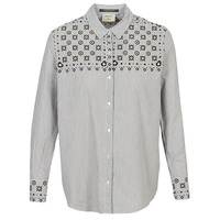 Vêtements Femme Chemises / Chemisiers Maison Scotch BUTTON UP SHIRT WITH BANDANA PRINT Gris