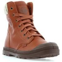Chaussures Femme Boots Palladium Manufacture Pampa HI Knit LP Marron