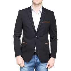 Vêtements Homme Vestes / Blazers Mackten Blazer cintrée Noir