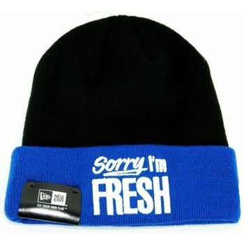 Bonnets New Era Bonnet New Era Sorry Im Fresh Noir - Bleu