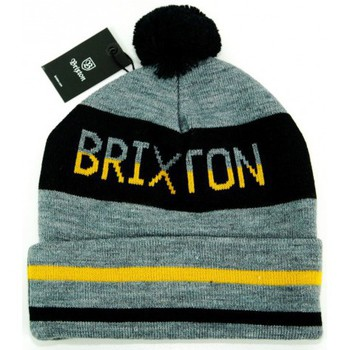 Bonnet Brixton bonnet fairmont gris noir jaune made in usa