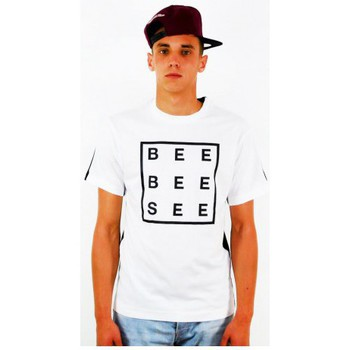 T-Shirt Billionaire boys club t-shirt bee bee see bbc blanc - noir