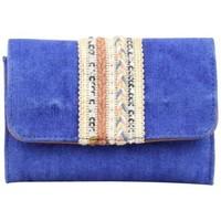 Sacs Femme Porte-monnaie Fuchsia Porte monnaie bande déco toile délavée  Milli bleu Bleu