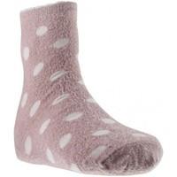 Accessoires textile Fille Chaussettes Twinday FOURRURE POIS rose