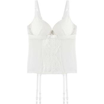 Sous-vêtements Femme Guêpières Pommpoire Guêpière ivoire Innocente Blanc