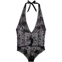 Sous-vêtements Femme Bodys Pommpoire Body tanga noir Unique Noir