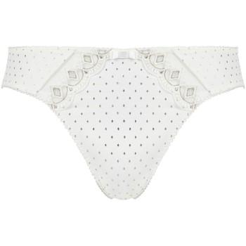 Sous-vêtements Femme Culottes & slips Pommpoire Culotte ivoire/argent Effigie Blanc