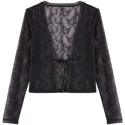 Vêtements Femme Gilets / Cardigans Pommpoire Boléro noir Keep Calm Noir