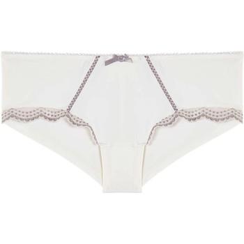 Sous-vêtements Femme Shorties & boxers Pommpoire Shorty ivoire/noisette Entrechat Blanc