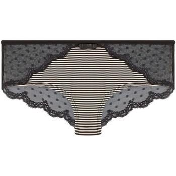 Sous-vêtements Femme Shorties & boxers Pommpoire Shorty noir/crème Fashion Alert Noir