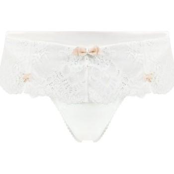 Sous-vêtements Femme Shorties & boxers Pommpoire Shorty string ivoire/champagne Champagne Blanc