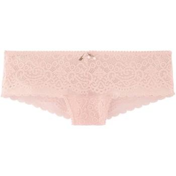 Sous-vêtements Femme Shorties & boxers Pommpoire Shorty tanga  rose poudre Tapageuse Rose