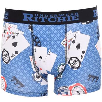 Sous-vêtements Homme Boxers Ritchie Boxer motifs RAMITYS Bleu