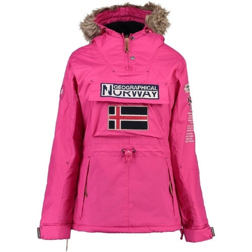 Vêtements Fille Parkas Geographical Norway Parka Fille Boomera Rose