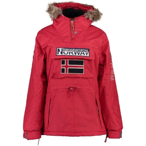 Vêtements Fille Parkas Geographical Norway Parka Fille Boomera Rouge