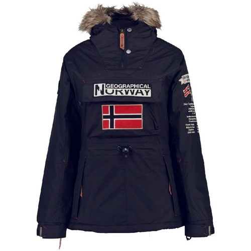 Vêtements Fille Parkas Geographical Norway Parka Fille Boomera Bleu