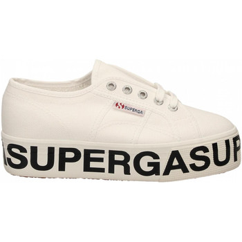 Chaussures Femme Baskets mode Superga 2790-COTW OUTSOLE LETTERING 901-white