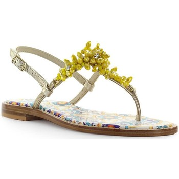 Chaussures Femme Sandales et Nu-pieds Giallo Positano Sandale Plate Jaune Yellow