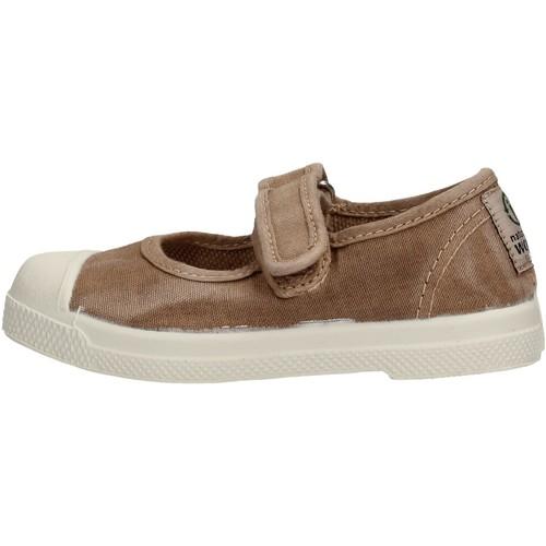 Chaussures Fille Tennis Natural World - Scarpa velcro beige 476E-621 BEIGE