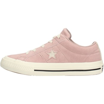 Chaussures Fille Baskets basses Converse - One star ox rosa 362191C