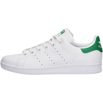 Chaussures Garçon Baskets basses adidas Originals - Stan smith j bianco M20605 BIANCO