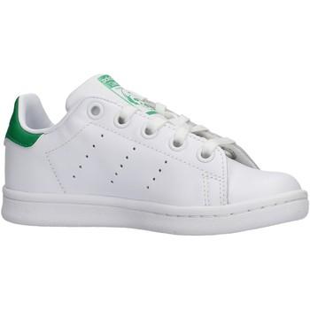 Chaussures Garçon Baskets basses adidas Originals - Stan smith c bianco BA8375 BIANCO