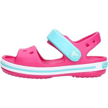 Sandales enfant Crocs - Crocband sand k fuxia/azzurro 12856-6LH