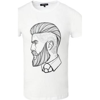 Vêtements Homme T-shirts & Polos Carisma T-shirt fashion pour homme T-shirt 4571 blanc Blanc