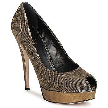Chaussures Femme Escarpins Sebastian TESS Gris / Or
