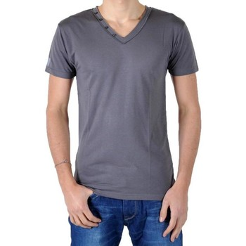 Vêtements Homme T-shirts & Polos Eleven Paris T-Shirt L2 Basic V Button SS Gris