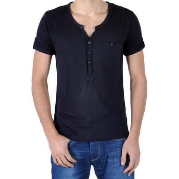Vêtements Homme T-shirts & Polos Eleven Paris T-Shirt L2 Basic Ts Pocket Bleu