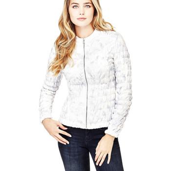 Vêtements Femme Doudounes Guess Veste Femme Matelassé Emily imprimé Blanc W82L02 1