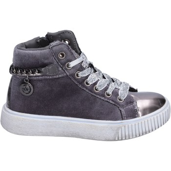 Chaussures Fille Baskets montantes Enrico Coveri sneakers velours gris