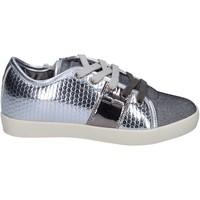 Chaussures Fille Baskets basses Enrico Coveri sneakers cuir synthétique argenté