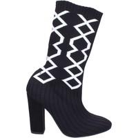 Chaussures Femme Bottes ville Nacree bottines textile noir