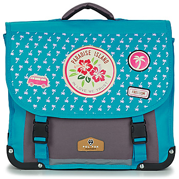 Sacs Fille Cartables Rentrée des classes POL FOX PARADISE ISLAND CARTABLE 38 CM Bleu / Gris