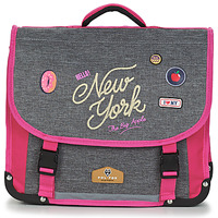 Sacs Fille Cartables Rentrée des classes POL FOX NEW YORK CARTABLE 38 CM Gris / Rose