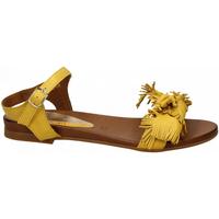 Chaussures Femme Sandales et Nu-pieds Café Noir SANDALO CON FIOCCO IN VITELLO 1958-giallo