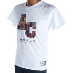 Vêtements Homme T-shirts manches courtes American College New york blanc riverside Blanc